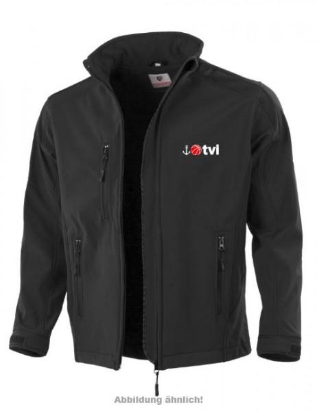 Hochwertige Softshelljacke mit TVI - Logo/Motiv
