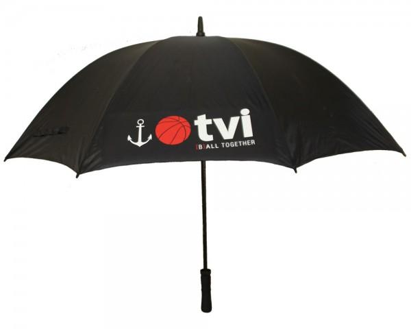 Stockschirm mit TVI - Logo/Motiv